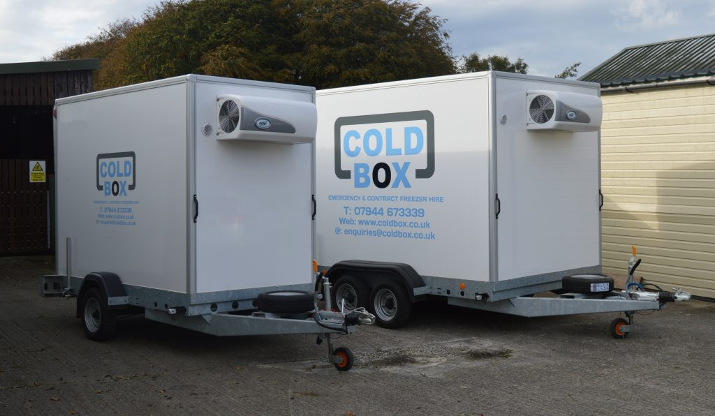 Emergency Mobile Freezer Hire - Side by Side